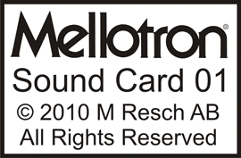 Digital Mellotron Sounds, sound card